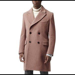 Reiss Pink Greatstone Tailored Overcoat